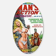 MANS ACTION, June 1969 - png Sticker (Oval)