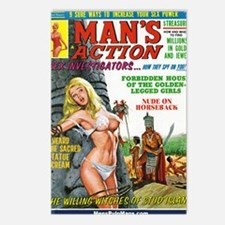 MANS ACTION, June 1969 -  Postcards (Package of 8)