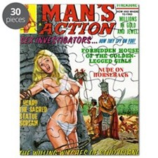 MANS ACTION, June 1969 - png Puzzle
