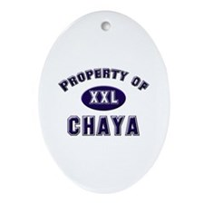 Property of chaya Oval Ornament