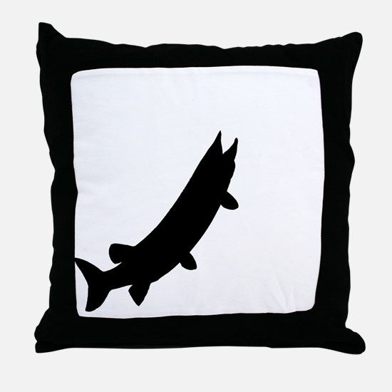 muskieMoon copy Throw Pillow
