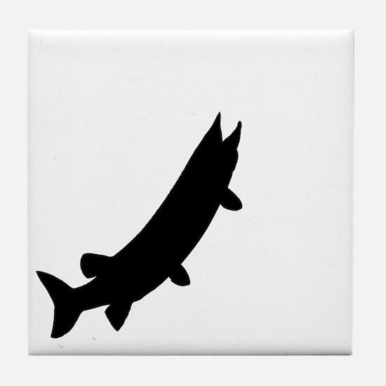 muskieMoon copy Tile Coaster