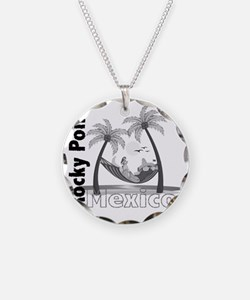 ppjhamockseparatedblackonwhi Necklace