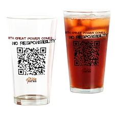 qr_shirt Drinking Glass