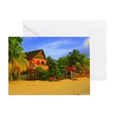 7 Mile Beach - Negril Jamaica - Pain Greeting Card