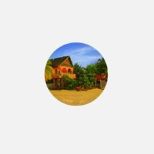 7 Mile Beach - Negril Jamaica - Painte Mini Button