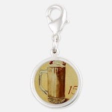 Root Beer Float BIG Silver Round Charm
