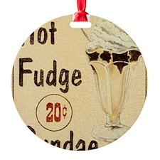 JNE059MaltShopIIPosters HOT FUDGE B Ornament