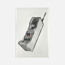 Worn 80's Cellphone Rectangle Magnet