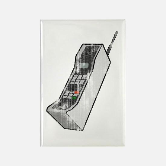 Worn 80's Cellphone Rectangle Magnet