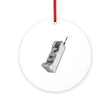 Worn 80's Cellphone Ornament (Round)