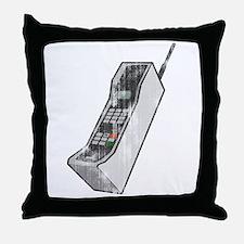 Worn 80's Cellphone Throw Pillow