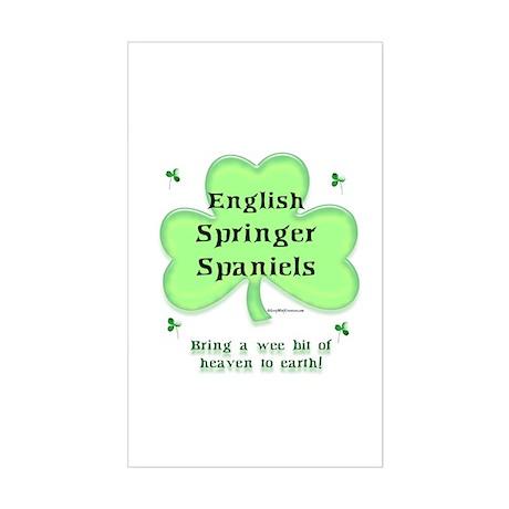 English Springer Heaven Rectangle Sticker