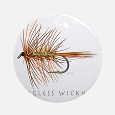 Wingless Wickham_1 Round Ornament