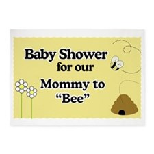 Mommy To Bee Baby Shower Yard Sign 5'x7'Area Rug