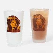 Soul Music - Orange Drinking Glass