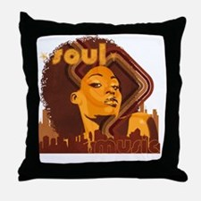 Soul Music - Orange Throw Pillow