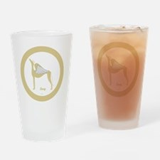 LUCY 1 ANGEL GREY gold rim round or Drinking Glass