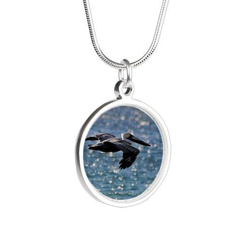 pelican_box Silver Round Necklace