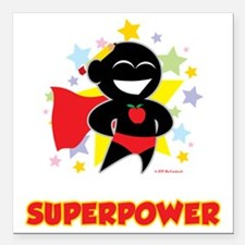 """Teaching-Is-My-Superpowe Square Car Magnet 3"""" x 3"""""""