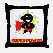 Teaching-Is-My-Superpower-blk Throw Pillow