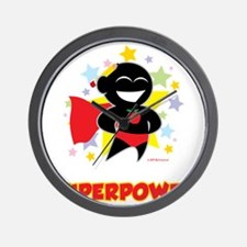 Teaching-Is-My-Superpower-blk Wall Clock