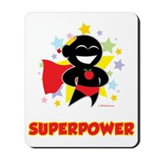 Teaching-Is-My-Superpower-blk Mousepad