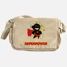 Teaching-Is-My-Superpower-blk Messenger Bag