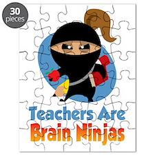 Teachers-Are-Brain-Ninjas-blk Puzzle
