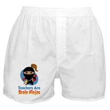 Teachers-Are-Brain-Ninjas-blk Boxer Shorts