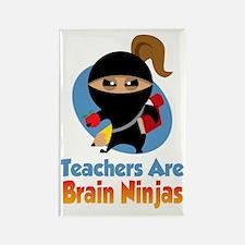 Teachers-Are-Brain-Ninjas-blk Rectangle Magnet
