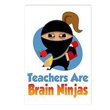 Teachers-Are-Brain-Ninjas Postcards (Package of 8)
