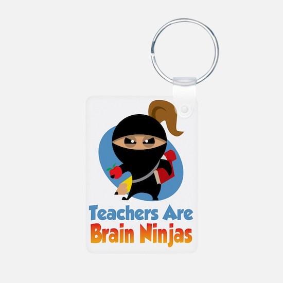 Teachers-Are-Brain-Ninjas- Aluminum Photo Keychain