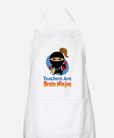 Teachers-Are-Brain-Ninjas-blk Apron