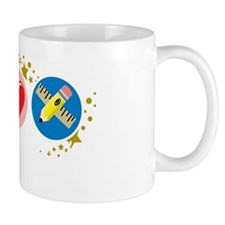 Peace-Love-Teach-blk Mug