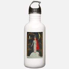 SnowMaidenRedPoster Water Bottle