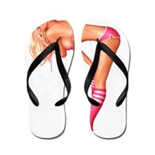 JDoughertyPinkSocksTUBEipad Flip Flops