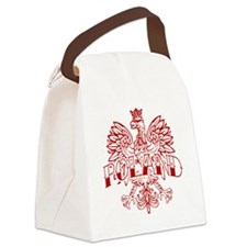 Poland Ink White Eagle Red Canvas Lunch Bag