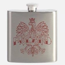 Poland Ink White Eagle Red Flask