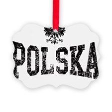 Polska Eagle Black Ornament