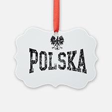 Polska Eagle Black Ornament