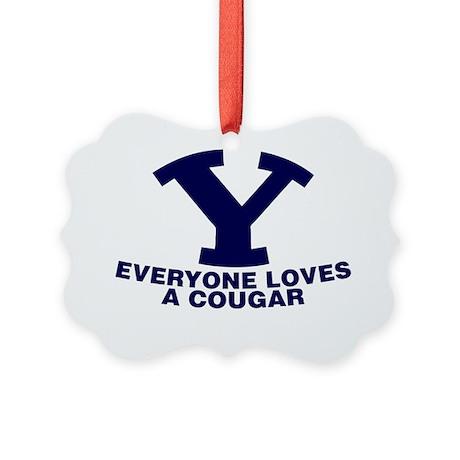 Everyone Love s a Cougar Picture Ornament