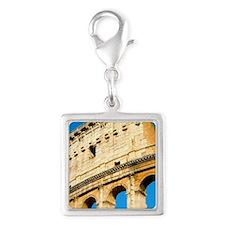 Colosseum Flip Cover Silver Square Charm