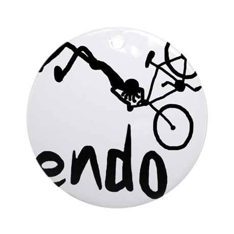 Endo_Stick_figure Round Ornament