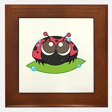 ladybug_whitebubble_forcolor-01 Framed Tile