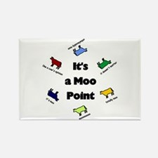 It's a Moo Point Rectangle Magnet