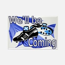 Tartan Army Well be Coming Rectangle Magnet