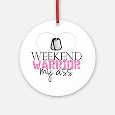 weekendwarrior Round Ornament