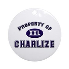 Property of charlize Ornament (Round)