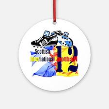 scotland football design black salt Round Ornament